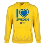 Sweden Euro 2016 Heart Youth Hoody (Yellow)