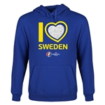 Sweden Euro 2016 Heart Youth Hoody (Royal)
