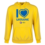 Ukraine Euro 2016 Heart Youth Hoody (Yellow)