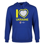Ukraine Euro 2016 Heart Youth Hoody (Royal)
