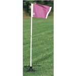 Kwik Goal Pink Premier Corner Flags-Set of 4 (Pink)