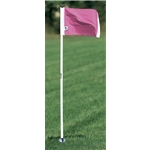 Kwik Goal Pink Official Corner FLags-Set of 4 (Pink)