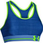 Under Armour HeatGear Alpha Printed Bra (Royal/Lime Green)