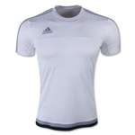 adidas Tiro15 Training Jersey (White/Gray)