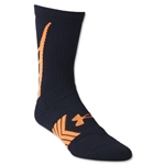 Under Armour Undeniable Crew Sock (Blk/Orange)
