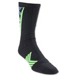 Under Armour Undeniable Camo Crew Sock (Blk/Green)