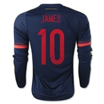 Colombia 2015 JAMES LS Away Soccer Jersey