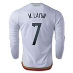 Mexico 2016 M. LAYUN LS Away Soccer Jersey