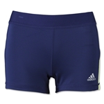 adidas Women's TechFit 3 Boy Shorts (Nvy/Yel)