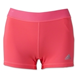 adidas Women's TechFit 3 Boy Shorts (Red/Silver)