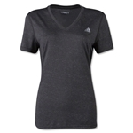 adidas Women's Ultimate V-Neck T-Shirt (Dk Grey)