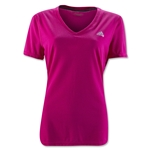 adidas Women's Ultimate V-Neck T-Shirt (Fuchsia)
