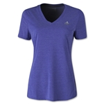 adidas Women's Ultimate V-Neck T-Shirt (Purple)
