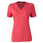 adidas Women's Ultimate V-Neck T-Shirt (Red/Silver)