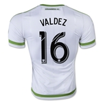 Seattle Sounders 2015 VALDEZ Authentic Away Soccer Jersey