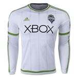 Seattle Sounders 2015 LS Authentic Away Soccer Jersey