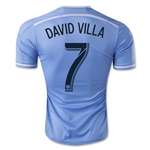New York City FC 2015 DAVID VILLA Authentic Home Soccer Jersey