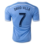 New York City FC 2015 DAVID VILLA Home Soccer Jersey