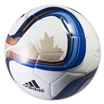 adidas MLS 2015 Glider Soccer Ball (White/Blue/Lucky Orange)