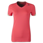 adidas Women's TechFit T-Shirt (Red)