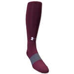 Under Armour Soccer Over the Calf Sock (Maroon)