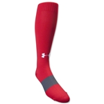 Under Armour Soccer Over the Calf Sock (Red)