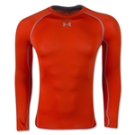 Under Armour Heatgear Compression Long Sleeve T-Shirt (Orange)