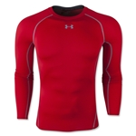 Under Armour Heatgear Compression Long Sleeve T-Shirt (Red)