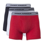 Under Armour Charged Cotton Stretch 6 Boxerjock 3 Pack (Wh/Bk/Sc)