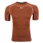 Under Armour Heatgear Compression T-Shirt (Dk Orange)