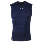 Under Armour Heatgear Compression Sleeveless T-Shirt (Navy)