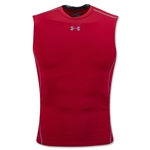 Under Armour Heatgear Compression Sleeveless T-Shirt (Red)
