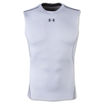 Under Armour Heatgear Compression Sleeveless T-Shirt (White)