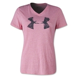 Under Armour Charged Cotton Painted UA V-Neck Women's T-Shirt (Pi/Bk)