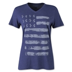 Under Armour Charged Cotton UA Painted Flag V-Neck Women's T-Shirt