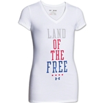 Under Armour Girls Land of the Free V-Neck Girls T-Shirt