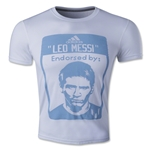 adidas Messi Label T-Shirt (White)