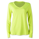 Nike V-Neck Legend LS Women's T-Shirt 2.0 (Lime)