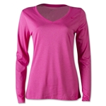 Nike V-Neck Legend LS Women's T-Shirt 2.0 (Magenta)