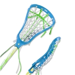 STX Fortress 100 Complete Lacrosse Stick (Blue)