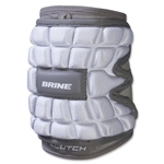 Brine Clutch Lacrosse Elbow Pads (White)