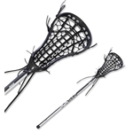 Brine Limited Edition Mantra III Women's Complete Lacrosse Stick (Blk/Wht)