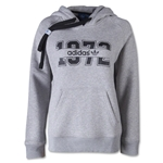 adidas Originals Women's Super Logo Essential Hoody (Gray)