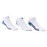 adidas ClimaCool Superlite 3 Pack No Show Sock (Wh/Gr)