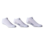 adidas ClimaCool Superlite 3 Pack No Show Sock (White/Gray)