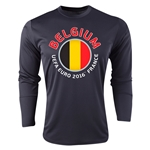 Belgium Euro 2016 Fashion Long Sleeve Training Top (Black)