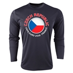 Czech Republic Euro 2016 Fashion Long Sleeve Training Top (Black)