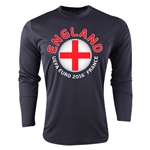 England Euro 2016 Fashion Long Sleeve Training Top (Black)