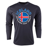 Iceland Euro 2016 Fashion Long Sleeve Training Top (Black)