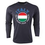 Italy Euro 2016 Fashion Long Sleeve Training Top (Black)